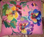 Подушка з вишивкою