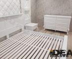 Сучасна біла спальня